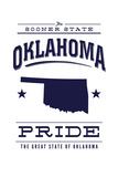 Oklahoma State Pride - Blue on White