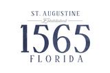 St Augustine  Florida - Established Date (Blue)