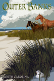 Outer Banks  North Carolina - Horses and Dunes