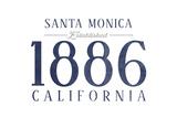 Santa Monica  California - Established Date (Blue)