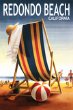 Redondo Beach  California - Beach Chair and Ball