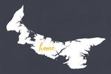 Prince Edward Island - Home - White on Gray