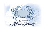 Wildwood  New Jersey - Crab - Blue - Coastal Icon