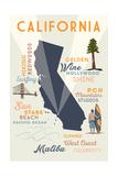 Malibu  California - Typography and Icons
