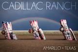 Amarillo  Texas - Cadillac Ranch - Double Rainbow