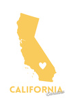 Barstow  California - State Outline and Heart