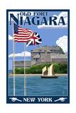 Old Fort Niagara  New York - Day Scene