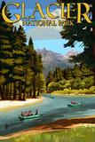 Glacier National Park  Montana - River Rafting