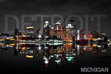 Detroit  Michigan - City at Night
