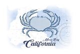 Morro Bay  California - Crab - Blue - Coastal Icon
