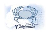 Shell Beach  California - Crab - Blue - Coastal Icon