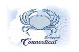Bridgeport  Connecticut - Crab - Blue - Coastal Icon