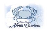 Outer Banks  North Carolina - Crab - Blue - Coastal Icon