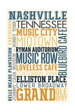 Nashville  Tennessee - Typography