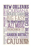 New Orleans  Louisiana - Typography