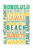 Honolulu  Hawaii - Typography