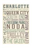 Charlotte  North Carolina - Typography