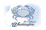 Port Angeles  Washington - Crab - Blue - Coastal Icon