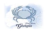 Jekyll Island  Georgia - Crab - Blue - Coastal Icon