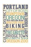 Portland  Oregon - Typography