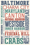 Baltimore  Maryland - Typography