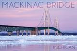 Mackinac Bridge  Michigan - Winter Scene