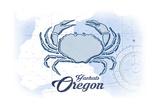 Yachats  Oregon - Crab - Blue - Coastal Icon