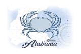 Mobile  Alabama - Crab - Blue - Coastal Icon