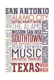 San Antonio  Texas - Typography