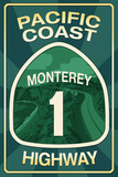 Highway 1  California - Monterey - Pacific Coast Highway Sign