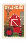 Oklahoma - Country - Woodblock