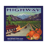 Highway Brand - Ontario  California - Citrus Crate Label