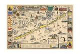 Long Beach Island  New Jersey - Vintage Map - Artwork