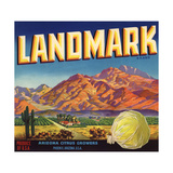 Landmark Brand - Phoenix  Arizona - Citrus Crate Label