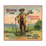 Hunter Brand - Glendora  California - Citrus Crate Label