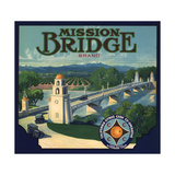 Mission Bridge Brand - Riverside  California - Citrus Crate Label