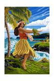 Hula Girl on Coast
