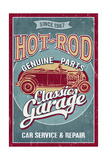 Hot Rod Garage - Classic Cars - Vintage Sign