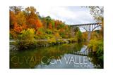 Cuyahoga Valley National Park  Ohio - Fall Foliage and Bridge
