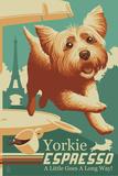 Yorkshire Terrier - Retro Yorkie Espresso Ad