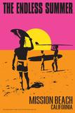 Mission Beach  California - the Endless Summer - Original Movie Poster