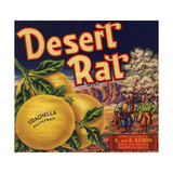 Desert Rat Brand - Indio  California - Citrus Crate Label