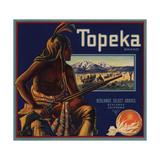 Topeka Brand - Redlands  California - Citrus Crate Label