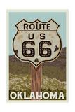 Oklahoma - Route 66 - Letterpress