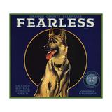 Fearless Brand - Orange  California - Citrus Crate Label