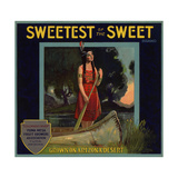 Sweetest of the Sweet Brand - Yuma  Arizona - Citrus Crate Label