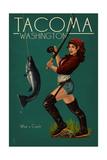 Tacoma  Washington - Pinup Girl Fishing