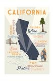 Laguna Beach  California - Typography and Icons