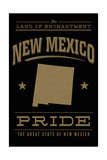 New Mexico State Pride - Gold on Black