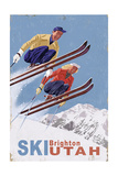 Brighton  Utah - Vintage Skiers